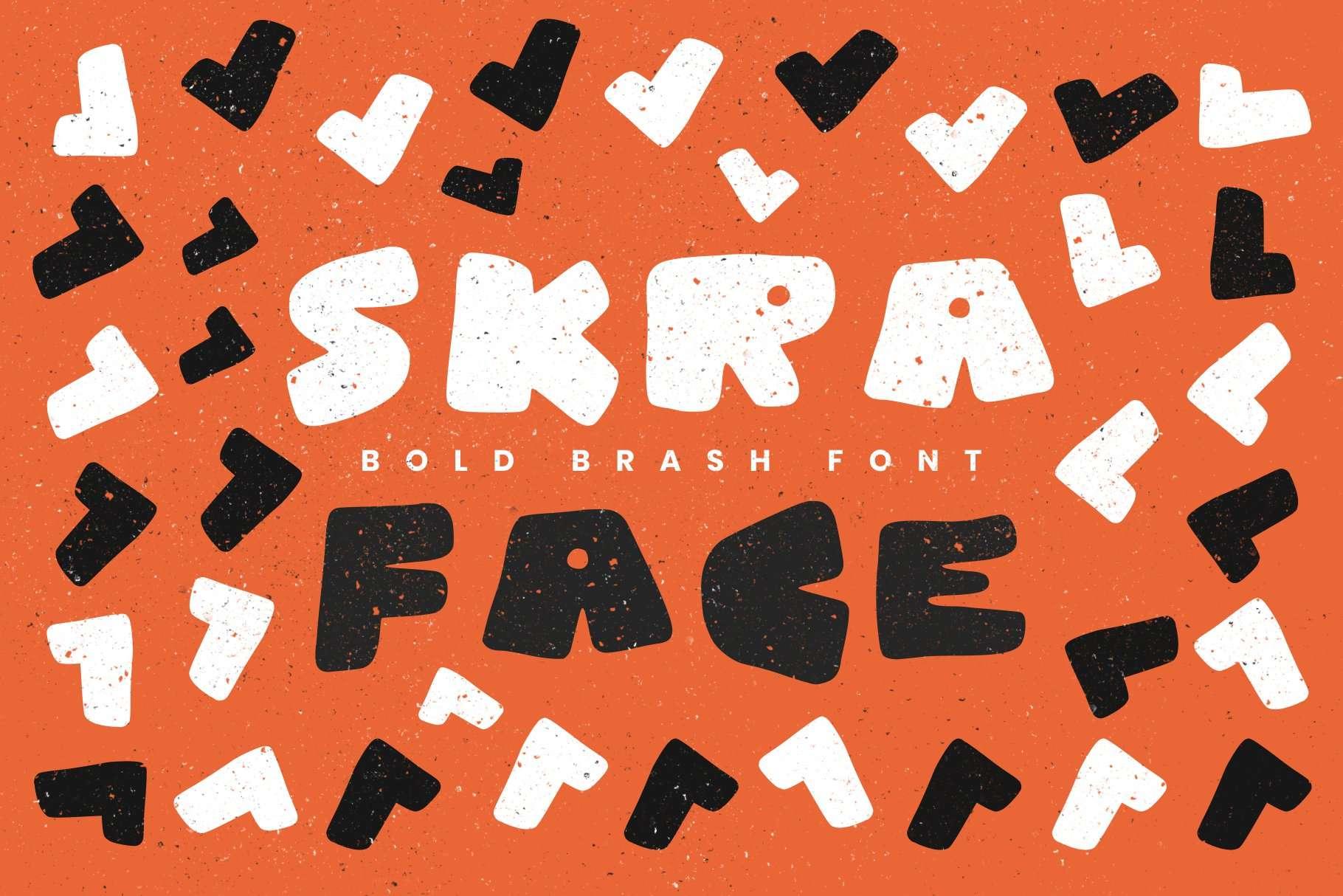 skra font face bold gritty black lives matter